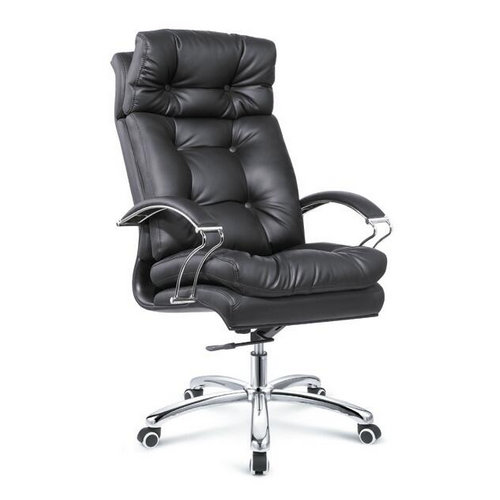 Foshan Modern Office Furniture Large Ergonomic Genuine Italian Leather Discount Home Computer Chair