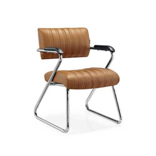 Elegent Guest Reception Meeting Room Modern Leather Metal Office Chair Waiting Room Seating