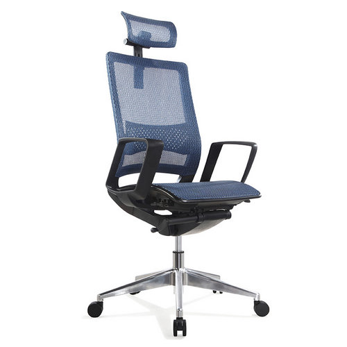 High Quality Headrest Executive and Ergonomic Mesh Modern High Back Office Swivel Chair with 5 wheels