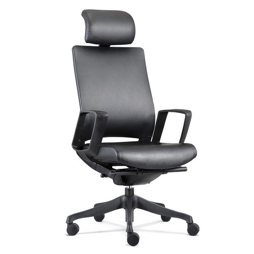 new design high back leather office chair industrial ergonomic office furniture in Foshan