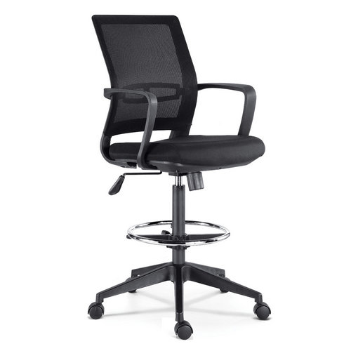 High sponge seating ergonomic design swivel office chair with footrest adjustable height