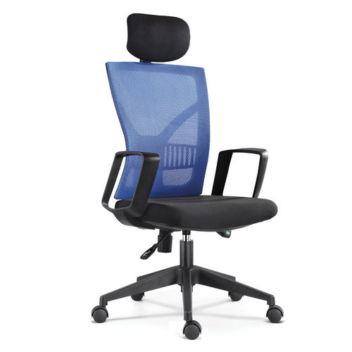 Fashion High Back Mesh Director Office Swivel Chair with Mold Foam Seat / Modern Style Plastic Frame