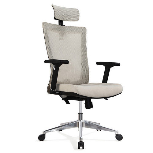 Hot selling white color ergonomic mesh office chair with soft seating and good wheels