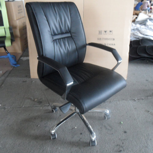 Modern high back white pu leather executive office desk chair, metal frame office chair