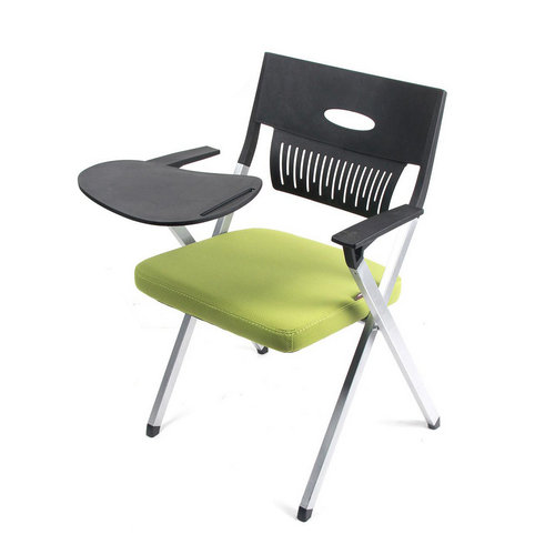 Custom Student Furniture School Study Conference Training Stackable Chair With Writing Pad Tablet