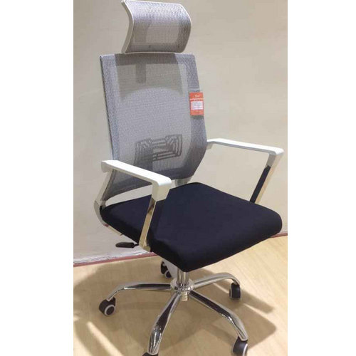 High Quality Modern Executive White Leather and Mesh Back Office Chair / Ergonomic Student Computer C