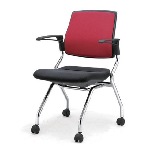 Fabric ergonomic reception boardroom conference office chair for Meeting Room with castors wheels