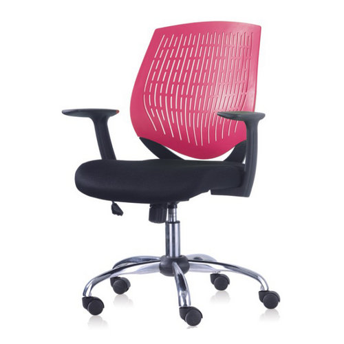 Simple affordable low backed Shell PP lift office chair for commercial use,modern reception chairs