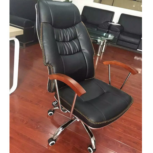 modern design wooden arms leather executive office chair reclining swivel computer chairs