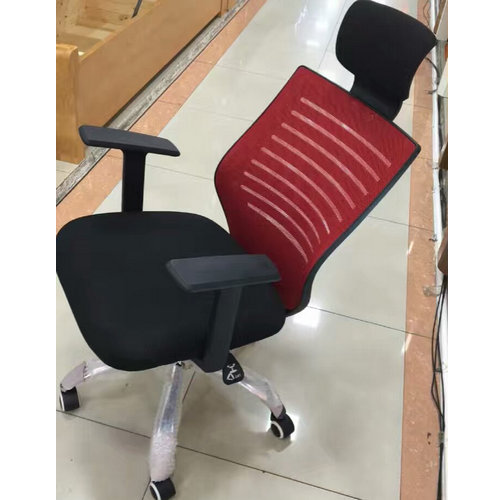High back Plastic Comfortable Red All Mesh Office Chair Cheap Fabric Swivel Meeting Chairs