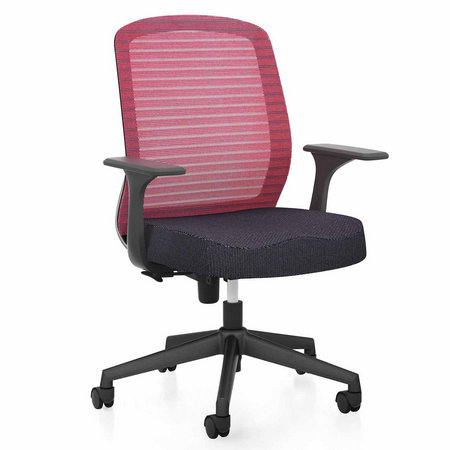 Adjustable nylon armrest staff office chair with mesh back swivel computer seating