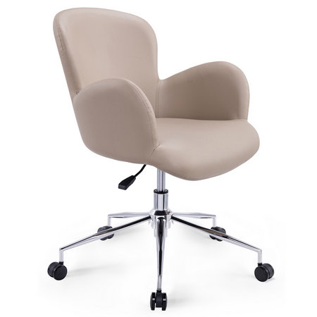 Hot Sale Small PU Swivel Computer Office Chair Staff Task Seats Reception Armchair
