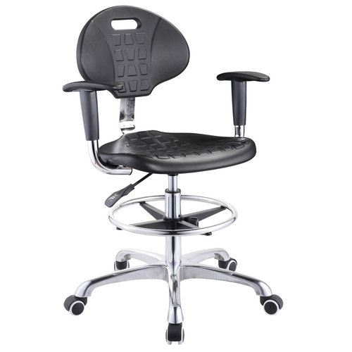 High quality staff drafting stool adjustable operator seating with wheels lab laboratory