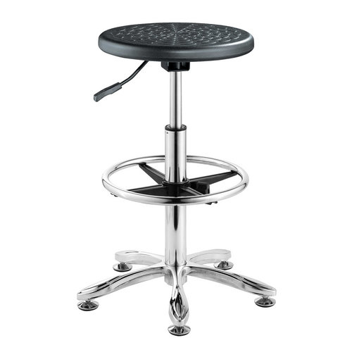 Height Adjustable Bank Counter Stool With Foot Rest School laboratory Room Seats Operator Chair