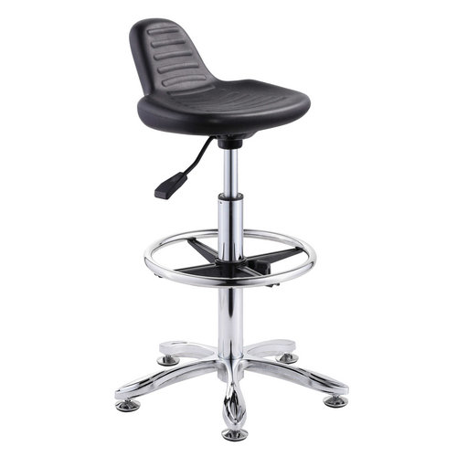 durable laboratory computer lab chairs staff operator stool cashier seats no wheels