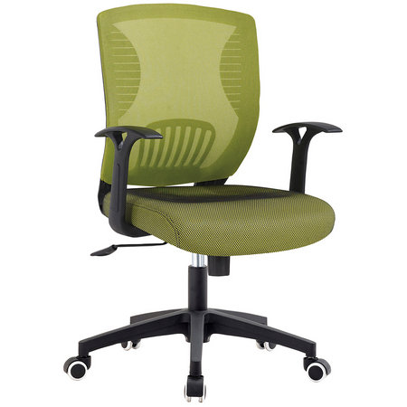 High quality full green mesh staff task office chairs  plastic operator seating