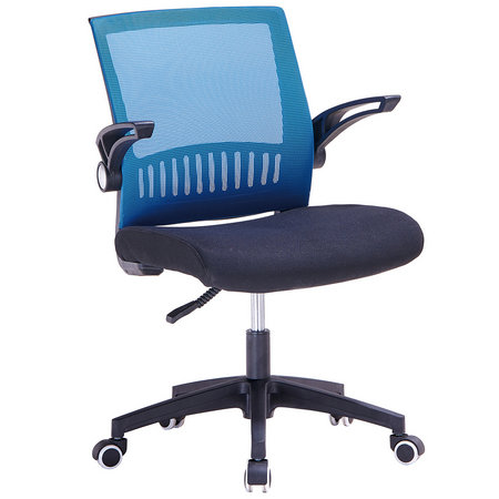 China OEM middle mesh blue staff office chair adjustable armrest swivel seating