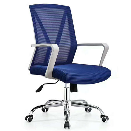 Height Adjustable White Office Staff Drafting Chair with Extra Wide Mold Foam Seat
