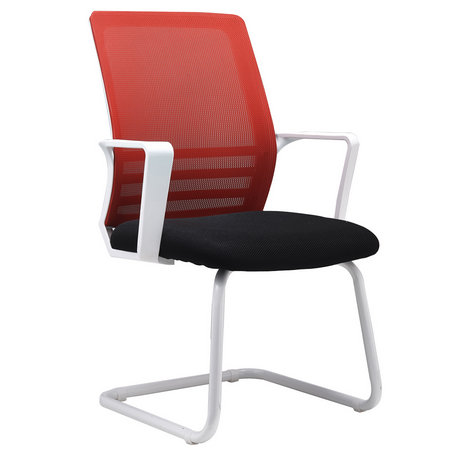 Guangzhou CIFF Competitive No Wheels Office Staff Mesh Conference Chairs Visitor Seats