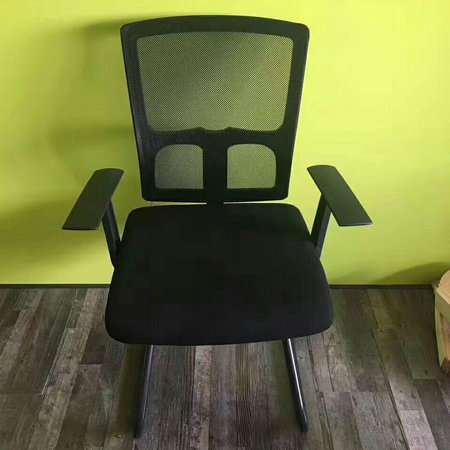 China promotion heated metal mesh conference meeting room chair fixed armrest visitor seats
