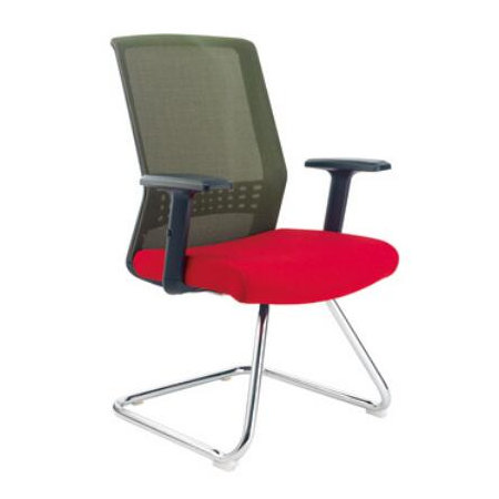 China office furniture no wheel bow metal meeting conference reception chair in Alibaba