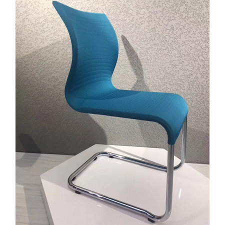 China fabric chromed steel tube meeting conference room seating visitor reception chairs