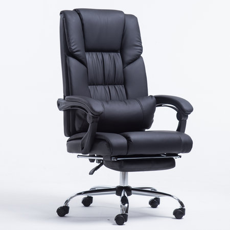 Buy IEKA High Back Black Leather Manager Chair Rolling Lift Swivel Executive Seating With Footrest