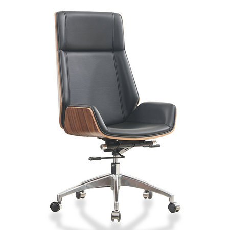 Popular classic bentwood executive leather office chair for conference room