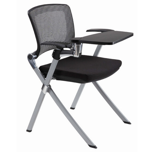high quality folding mesh office meeting training chair study chair with writing pad