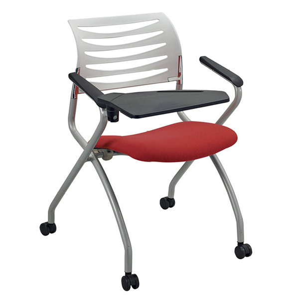 Cheap folding conference room training chair with writing pad