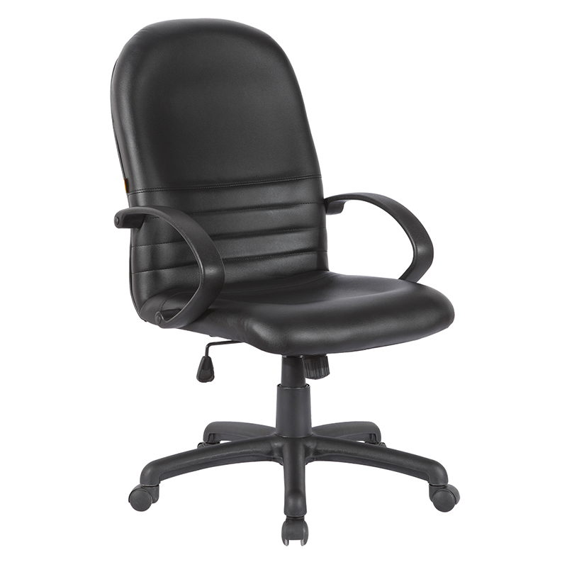 Low price black leather task office computer chairs