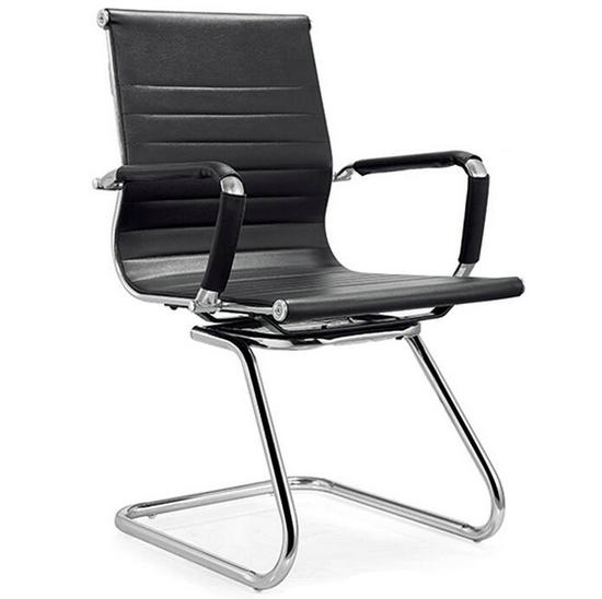 Incroyable Black Leather Low Back Office Chair,meeting Room Chairs,cheap Computer Chair