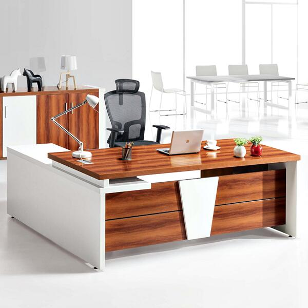 Wooden Frame Office Desk Computer Standing Modern Executive Table