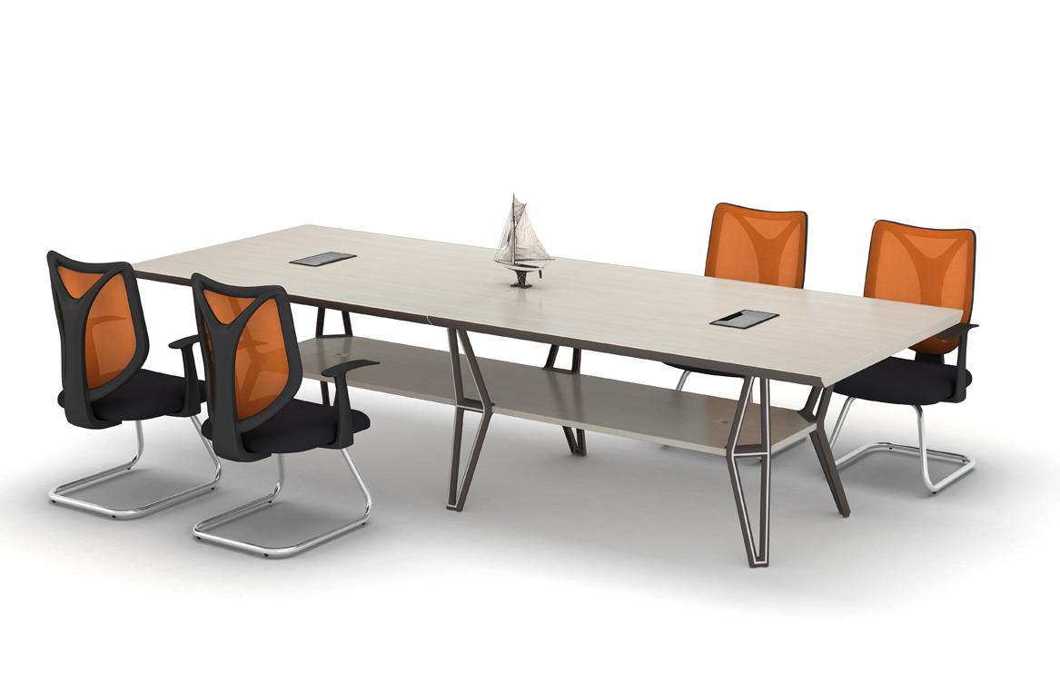 White Conference Tables Modern Design Meeting Desk Metal Wood Boardroom