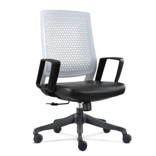 fashion style low back leather computer chair wholesale plastic back