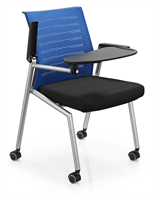 New Conference Folding Chair With Writing Table / Plastic