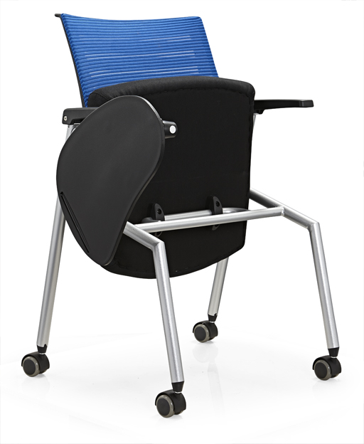 New Conference Folding Chair With Writing Table Plastic